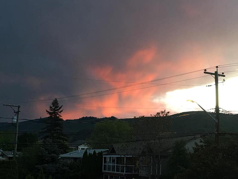 Pink Clouds in the Western sky over Vernon 2020