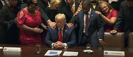 Trump being prayed on